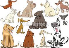 Vector Art: cartoon dogs or puppies big set