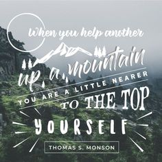 Thomas S. Monson quote from Great Expectations #lds #mormon #ThomasSMonson #BYUSpeeches #ldsquote #ministering #inspirational
