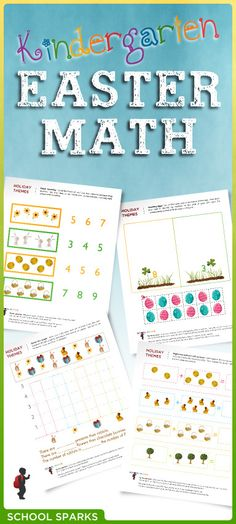 Free Easter math worksheets to help young children practice basic math skills such as counting, sorting, graphing, and patterning. Easter Worksheets, Easter Activities, Spring Activities, Kindergarten Worksheets, Preschool Crafts, Easter Art, Easter Ideas, Homeschool Math, Homeschooling