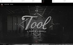 Tool of North America 2 July 2013 http://www.awwwards.com/web-design-awards/tool-of-north-america-2 #webdesign #inspiration #UI #Clean #BigBackgroundImages #Fullscreen #HTML5 #Video #Parallax #Black #White #Red
