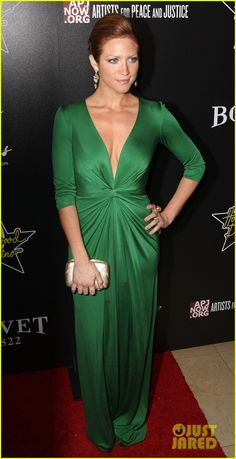 Brittany Snow on the Red Carpet.     ~ oh, that green and that style dress has my name written ALL over it!!! ~ LOVE!