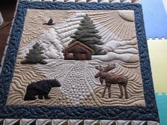 "Boy, do I hate to see this leave~!   Pattern-""Nestled at the Lodge"" by Deborah Jacobs & Kathryn Squibb.     In the beginning. This pile of ..."