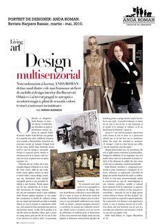 """Sensorial design - Anda Roman"" - Harpers Bazaar, March-May issues, 2010."