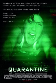 Quarantine , starring Jennifer Carpenter, Steve Harris, Columbus Short, Jay Hernandez. A television reporter and her cameraman are trapped inside a building quarantined by the CDC after the outbreak of a mysterious virus which turns humans into bloodthirsty killers. #Horror #Sci-Fi #Thriller