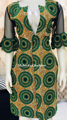 - Women's style: Patterns of sustainability Short African Dresses, Latest African Fashion Dresses, African Print Dresses, African Print Fashion, African Traditional Dresses, African Attire, Mode Style, The Dress, Kitenge