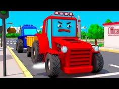 Ambulance, Fire Truck and Police Car - Emergency Vehicles for children 3D Cartoon - YouTube