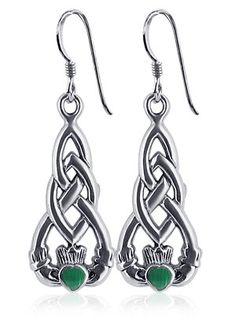 Sterling Silver Celtic Knot Irish Claddagh Friendship and Love Malachite Earrings Gem Avenue,http://www.amazon.com/dp/B00133OPZY/ref=cm_sw_r_pi_dp_rEvftb1A1BXJ1RT6