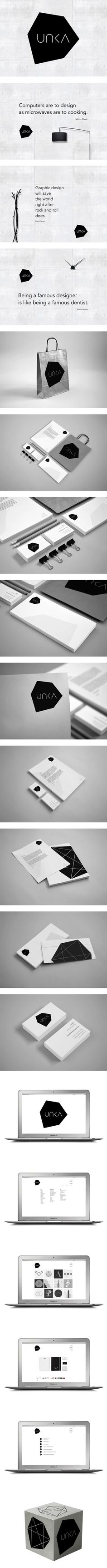 """UNKA by Ven Klement, via Behance. """"Graphic design will save the world right after rock and roll does."""""""
