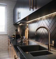 Industrial Kitchen Design, Luxury Kitchen Design, Kitchen Room Design, Home Room Design, Luxury Kitchens, Home Decor Kitchen, Kitchen Living, Interior Design Kitchen, Home Kitchens
