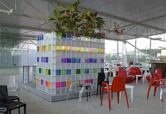 A Tropical Cafe - Fiera Casa Cor 2008 | Projects | Design Gallery | Seves glassblock