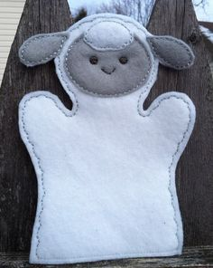Sheep  Farm Animal Felt Hand Puppet  KiD SiZe by ThatsSewPersonal, $7.50