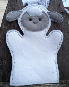 Sheep  Farm Animal Felt Hand Puppet  KiD SiZe by ThatsSewPersonal, $7.50