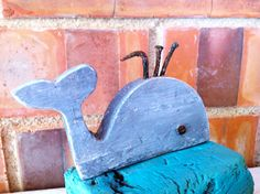 Driftwood Whale Nautical Decor Sculpture on the by NoaParis