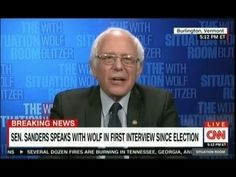 Bernie Sanders CNN Full Interview After Donald Trump Victory: I Will Opp...