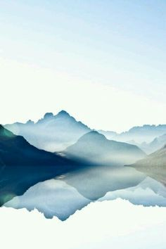 Watercolor mountain range