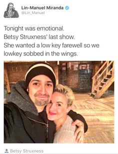 You're missed Betsy, I hope the future holds great things for you and your…