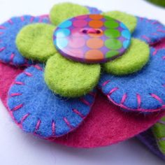 Funky Felt Flower Brooch - ideal gift for teacher | wowthankyou.co.uk