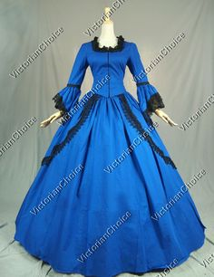 Marie Antoinette Victorian Period Dress Theatre Ball Gown