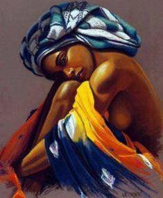 Art Black Love, Black Girl Art, Art Girl, Black Art Painting, Black Artwork, African Beauty, African Women, African American Artwork, Afrique Art