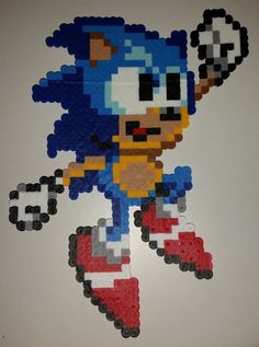 Sonic the Hedgehog Perler Bead Pixel Art