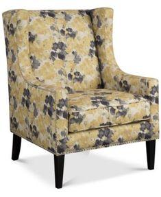 Sloane Wing Chair, Direct Ship - Furniture - Macy's