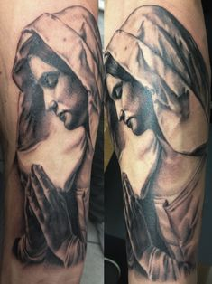 Virgin Mary tattoo by Disse86