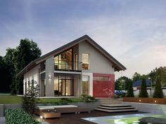 Projekt domu z użytkowym poddaszem Onyks (203,8 m2). Pełna prezentacja projektu dostępna jest na stronie: https://www.domywstylu.pl/projekt-domu-onyks.php. #projekty #domów #gotowe #domywstylu #mtmstyl #aranżacje #wnętrz #wnętrza #home #houses #interiors #insides #architectura #onyks