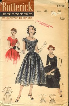 butterick 6578. Would love to have this pattern and make a couple of dresses.