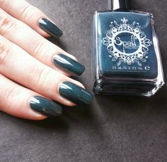 Spell Polish Dark Horse | Squeaky Nails http://www.squeakynails.com/2015/01/swatch-spell-polish-dark-horse.html