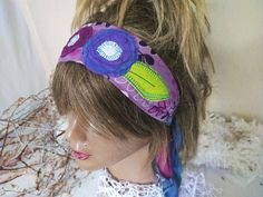 Purple Headband, Hippie Headband,  Head Wearing Fest, Purple Dread Band, Dread Wrap, Women for Gift, Clothing between Galaxies