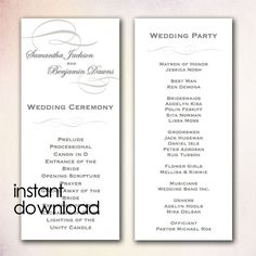 DIY+Wedding+Program+Template++Instant+Download+by+CheapoBride,+$7.00