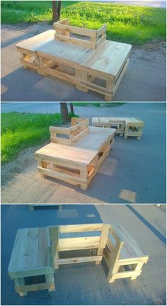 This DIY wood pallet project is making you introduce with the decent creation of wood pallet in the shape of couch sitting set. You can install this creation of wood pallet into your garden areas where it can availed for sitting purposes in your gatherings. Isn't it look creative?