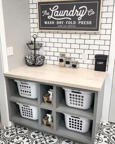 Laundry Room Shelves, Mudroom Laundry Room, Laundry Room Remodel, Small Laundry Rooms, Laundry Room Organization, Laundry Room Design, Laundry In Bathroom, Laundry Basket Dresser, Laundry Area