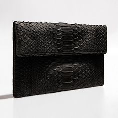 Sheer black python clutch by Verinosa More colors www.verinosa.ee