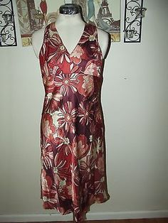 Ann Taylor LOFT Sleeveless Dress size 4 ~ Silk Blend Floral