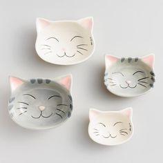 Cat Ceramic Measuring Cups