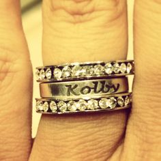 Right hand Mother's ring.