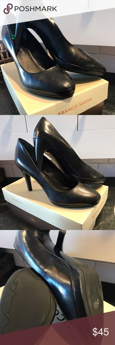 Franco Sarto Damina Leather Pumps Beautiful black leather pumps.  Have never been worn - have only been tried on (see slight scuff to sole).  I really wanted these to work - they are GORGEOUS. Usually retail for ~$90. Franco Sarto Shoes Heels
