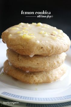 ~Lemon Cookies with Lemon Glaze Adapted: Martha Stewart | Yields: 12 cookies | Level: Easy | Total Time:45 minutes~