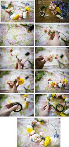 Blumenkranz für die Haare selber machen: 26 Anleitungen mit Gerbera, Rose und Gartenblumen