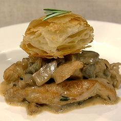 Carla's Chicken with Mushroom Duxelles.