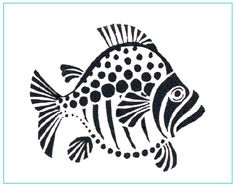 Big fish stencil made custom from a variety of materials by application and… Fish Stencil, Stencils, Stencil Art, Stencil Patterns, Stencil Designs, Doodle Drawing, Arte Tribal, Arte Popular, Fish Art