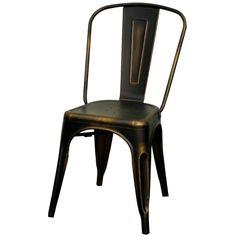 Metropolis Metal Side Chair, Distressed Copper/938233-DC  $35EA