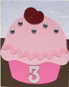 """This was the invitation for my daughter's birthday party. She fell in love with """"Pinkalicious"""" when we borrowed it from the library, . Pink Birthday, 3rd Birthday Parties, Birthday Cupcakes, Birthday Ideas, Birthday Stuff, 4th Birthday, Cupcake Invitations, Birthday Invitations, Invites"""