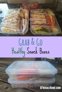 Do you want your kids to eat healthier? Try these easy-to-make Grab & Go Healthy Snack Boxes that give the kids quick access to healthy snacks!