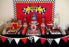 Great Cars party table