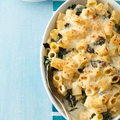 Double-Cheese Macaroni and Greens