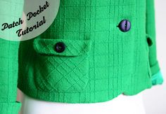 How to: Sew & Attach a Patch Pocket tutorial by Sunni at A Fashionable Stitch