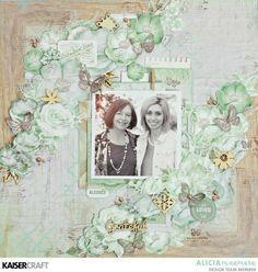 "Kaisercraft Memory Lane ""Grateful"" Mother's Day Layout ~ By Alicia McNamara"