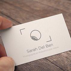 Création du logo pour la photographe Sarah Del Ben photographe et réalisatrice…